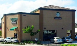 Starbucks commercial stucco project